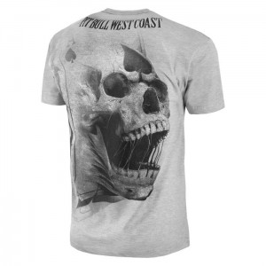 T-shirt PIT BULL WEST COAST Ace Of Spades  grey