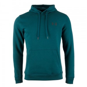 Bluza z kapturem UNDER ARMOUR Rival Fitted Pill Over zielony-716