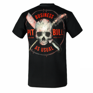 T-shirt PIT BULL WEST COAST Business Us Usual black