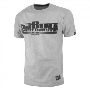T-shirt PIT BULL WEST COAST Classic Boxing 18 grey