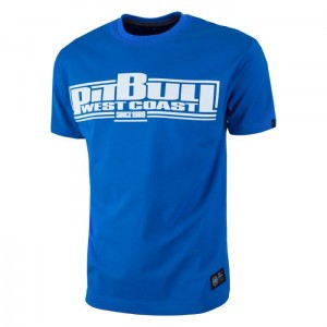 T-shirt PIT BULL WEST COAST Classic Boxing 18 royal blue