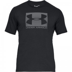 T-shirt UNDER ARMOUR BOXED SPORTSTYLE SS czarna