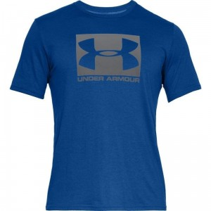 T-shirt UNDER ARMOUR BOXED SPORTSTYLE SS niebieska