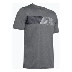 T-SHIRT UNDER ARMOUR FAST LEFT CHEST 2.0 SS ciemny szary