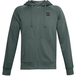 Bluza UNDER ARMOUR RIVAL FLEECE FZ HOODIE SZARY NIEBIESKI