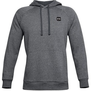 Bluza z kapturem UNDER ARMOUR RIVAL FLEECE HOODIE SZARY MELANŻ 092-012