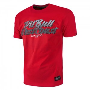 T-shirt PIT BULL WEST COAST PB SD red