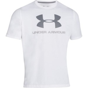 T-shirt UNDER ARMOUR Sportstyle Logo biały-100