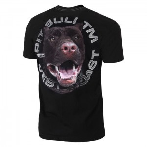 T-shirt PIT BULL WEST COAST Red Nose 18 black