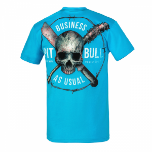 T-shirt PIT BULL WEST COAST Business Us Usual turquoise