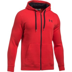 Bluza rozpinana z kapturem UNDER ARMOUR Rival Fitted czerwony-600