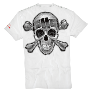 T-shirt PIT BULL WEST COAST Skull Wear biały