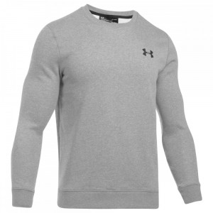 Bluza UNDER ARMOUR Rival Solid Fitted Crew szary-035