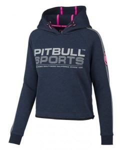 Bluza damska z kapturem PIT BULL WEST COAST ATHLETICA NAVY MELANGE