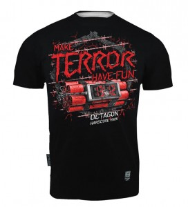 T-shirt Octagon Make Terror Have Fun black
