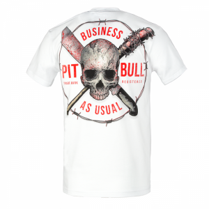 T-shirt PIT BULL WEST COAST Business Us Usual white