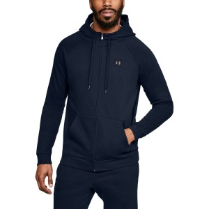 Bluza rozpinana z kapturem UNDER ARMOUR Rival Fleece FZ Hoodie granatowy-408