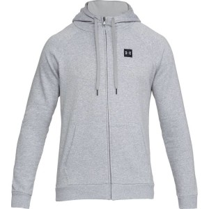 Bluza rozpinana z kapturem UNDER ARMOUR Rival Fleece FZ Hoodie szary-036
