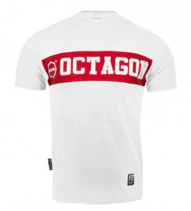 T-shirt Octagon Middle white