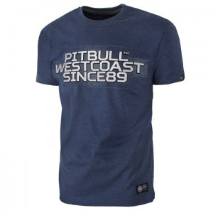 T-shirt PIT BULL WEST COAST Rating Plate navy melange