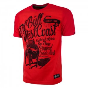 T-shirt PIT BULL WEST COAST Doggy red
