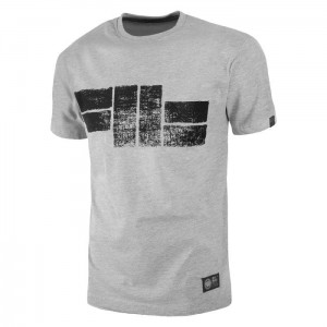 T-shirt PIT BULL WEST COAST Classic Logo18 grey