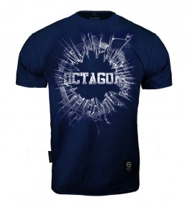 T-shirt OCTAGON Crushed Logo dark navy