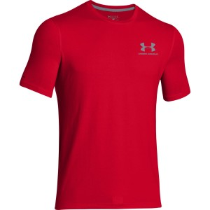 T-shirt UNDER ARMOUR CC Left Chest Lockup czerwony-600