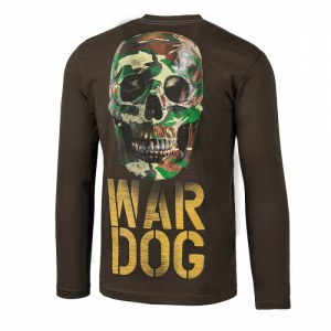 Longsleeve PIT BULL WEST COAST War Dog brown