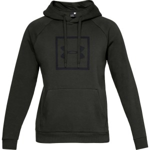 Bluza z kapturem UNDER ARMOUR Rival Fleece Logo Hoodie khaki-357