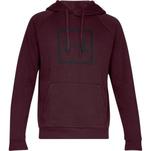 Bluza z kapturem UNDER ARMOUR Rival Fleece Logo Hoodie bordo-600