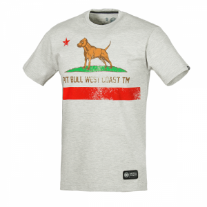 T-shirt PIT BULL WEST COAST CALIFORNIA FLAG grey