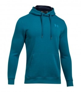 Bluza z kapturem UNDER ARMOUR Rival Fitted Pill Over turkus-953