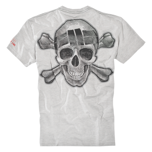 T-shirt PIT BULL WEST COAST Skull Wear szary