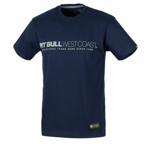 T-shirt PIT BULL WEST COAST Iron Plate navy