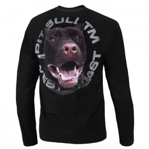 Longsleeve PIT BULL WEST COAST Red Nose black